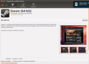 Steam - Programsko središče Ubuntu