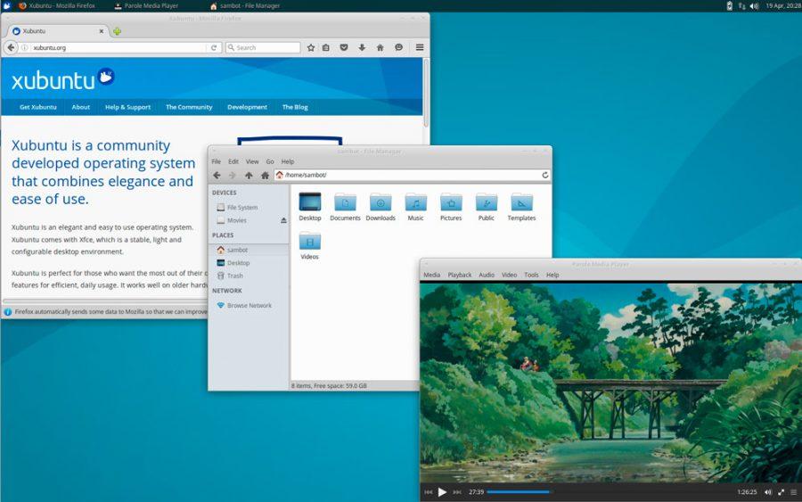 Xubuntu 16.04 - privzeti programi
